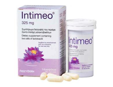 Frezyderm Intimeo Συμπλήρωμα Διατροφής με Ζώντα Στελέχοι Γαλακτοβακίλλων 325mg, 14caps