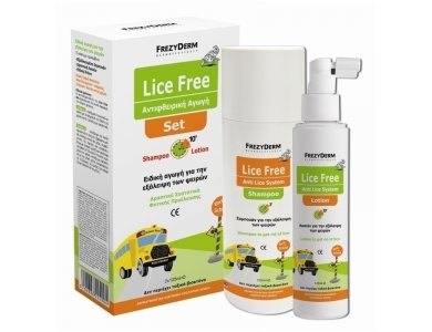 Frezyderm Promo Lice Free Set, Shampoo 125ml, Lotion 125ml, Χτενάκι & ΔΩΡΟ Lice Rep Spray Extreme 80ml