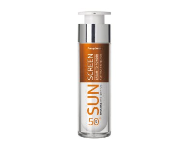 Frezyderm Sun Screen Cream to Powder Vitamin D Like SPF50+, Αντηλιακή Κρέμα Προσώπου 50ml