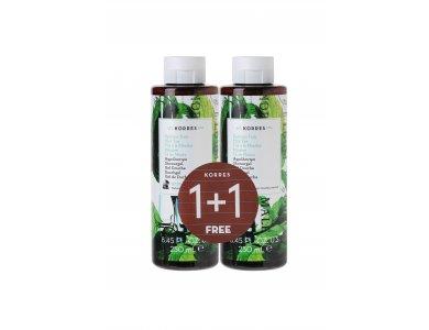 Korres Σετ Αφρολουτρο Πρασινο Τσαϊ 1+1 250 ml