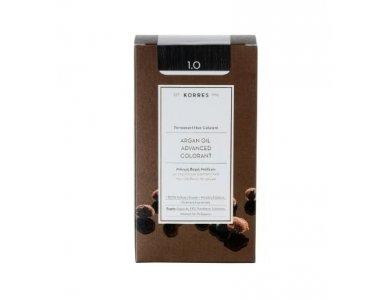 Korres Βαφή ARGAN OIL Advanced Colorant 1.0 Μαύρο Φυσικό