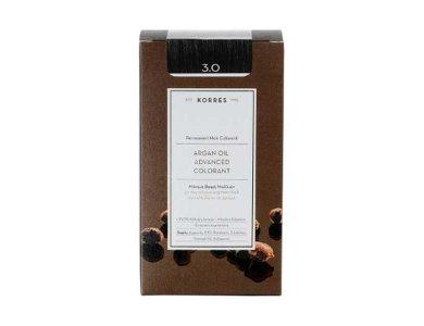 Korres Βαφή ARGAN OIL Advanced Colorant 3.0 Καστανό Σκούρο