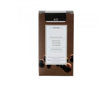 Korres Βαφή ARGAN OIL Advanced Colorant 4.0 Καστανό