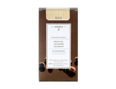 Korres Βαφή ARGAN OIL Advanced Colorant 10.0 Ξανθό Πλατίνας