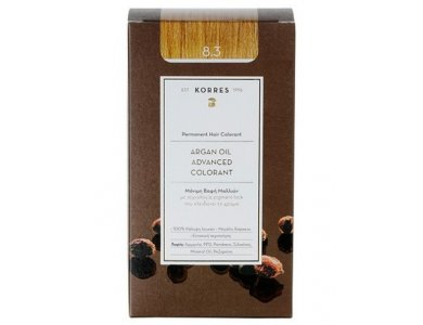 Korres Βαφή ARGAN OIL Advanced Colorant 8.3 Ξανθό Ανοικτό Χρυσό/Μελί