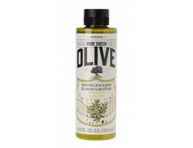 Korres Pure Greek Olive Shower Gel Olive Blossom Αφρόλουτρο με Άνθη Ελιάς, 250ml