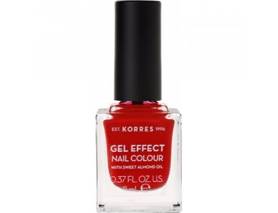 Korres Gel Effect Nail Colour With Sweet Almond Oil No.53 Royal Red 11ml