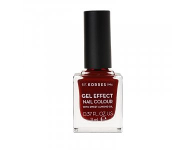 Korres Gel Effect Nail Colour With Sweet Almond Oil No.59 Wine Red 11ml
