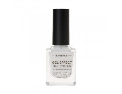 Korres Gel Effect Nail Colour With Sweet Almond Oil No.01 Blanc White 11ml