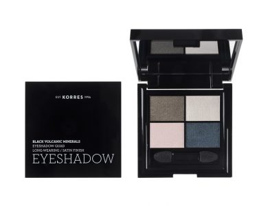 Korres Black Volcanic Minerals Eyeshadow Quad The Candy Green