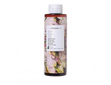 Korres Showergel Violet Αφρόλουτρο Βιολέτα, με Γλυκό Πουδρένιο Άρωμα 250ml