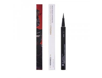 Korres Minerals Liquid Eyeliner Pen Μαύρο 1ml