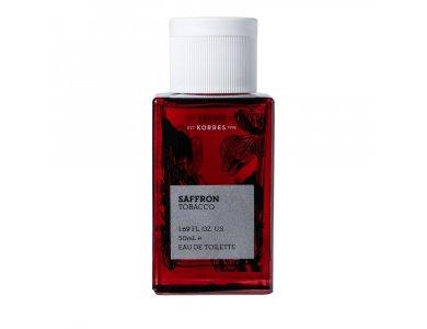Korres Saffron Tobacco Eau De Toilette, Ανδρικό Άρωμα 50ml