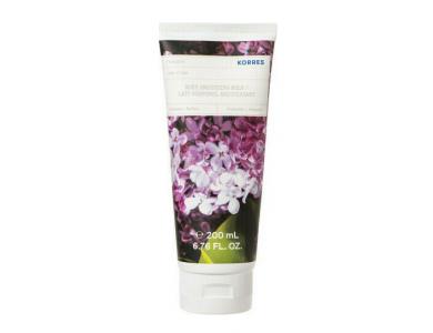 Korres Body Smoothing Milk Lilac, Ενυδατικό Γαλάκτωμα Σώματος Πασχαλιά, 200ml