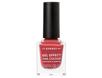 Korres Gel Effect Nail Colour No.49 Moonstone Rose, Βερνίκι Νυχιών, 11ml