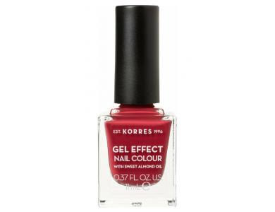 Korres Gel Effect Nail Colour Νο.52 Eternity Red Rose, Βερνίκι Νυχιών, 11ml