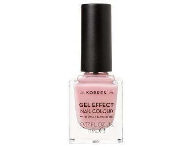 Korres Gel Effect Nail Colour No.07 Ballerina Rose, Βερνίκι Νυχιών, 11ml