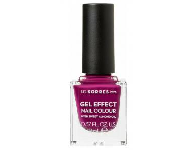 Korres Gel Effect Nail Colour No.72 Cherry Brandy Rose, Βερνίκι Νυχιών, 11ml