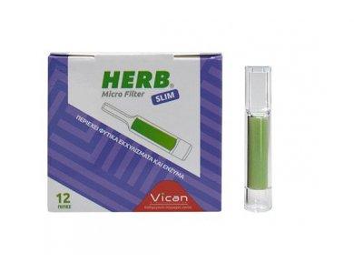 HERB MICRO FILTER για slim τσιγάρο 12ΤΕΜ
