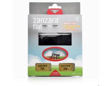 Vican Zanzara Flat, Εντομοαπωθητικό Βραχιόλι & 2 Εντομοαπωθητικές Πλακέτες M/L, Μαύρο