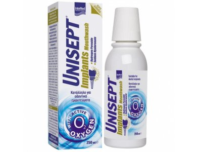 Intermed Unisept Implant Mouthwash, Στοματικό Διάλυμα Κατάλληλο για Οδοντικά Εμφυτεύματα 250ml