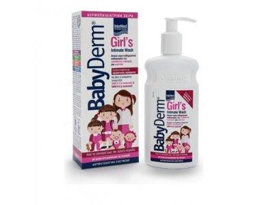 Intermed Babyderm Girl's Intimate Wash, Καθαριστικό Ευαίσθητης Περιοχής για Κορίτσια 300ml