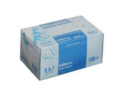 Filoskin Latex Γάντια Ελαφρώς Πουδραρισμένα Λευκά, Small 6-7, 100τμχ