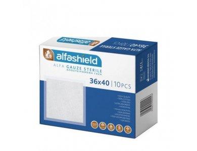 Alfashield Γαζες Αποστειρωμένες 36x40cm, 10τεμάχια