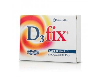 UNI PHARMA D3 Fix Βιταμίνη D3 1.200iu 60 TABS