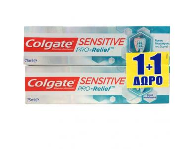 Colgate Sensitive Pro-Relief, Οδοντόκρεμα για Άμεση Ανακούφιση των Ευαίσθητων Δοντιών, 2x75ml