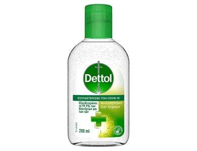 Dettol Sanitizer Gel, Αντισηπτικό Υγρό Χεριών σε Μορφή Τζελ, 200ml