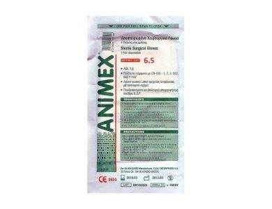 Animex Αποστειρωμένα Χειρουργικά Γάντια μίας Χρήσης 1 ζεύγος μέγεθος 6.5