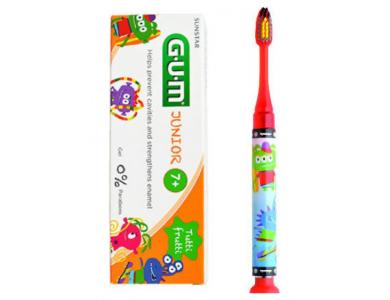 GUM Set Junior Light-Up Red Soft, Οδοντόβουρτσα & Junior Οδοντόκρεμα 7-12 Ετών Tutti Frutti 50ml