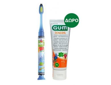 GUM Set Junior Light-Up Blue Soft Οδοντόβουρτσα & Junior Οδοντόκρεμα 7-12 Ετών Tutti Frutti, 50ml