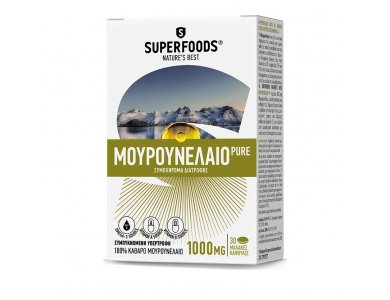 SUPERFOODS COD LIVER OIL PURE 1000MG 30caps