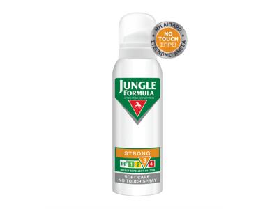 JUNGLE FORMULA Spray Strong Soft Care no touch, Εντομοαπωθητικό Σπρέι, 125ml