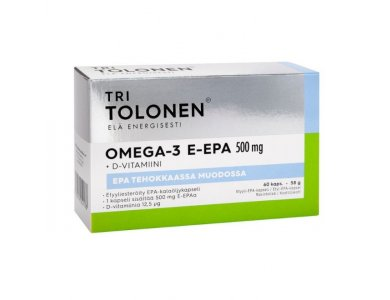 Douni Tri Tolonen E-EPA Omega-3 (Ω-3 λιπαρά) 500mg & Βιταμίνη D 12.5μg, 60caps