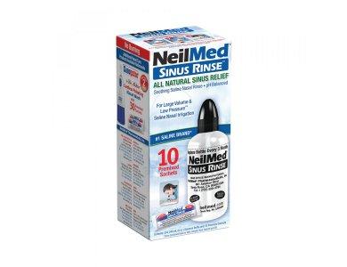 NEILMED Sinus Rinse, Σύστημα Ρινικών Πλύσεων για Ενήλικες, Συσκευή + 10 Φακελάκια