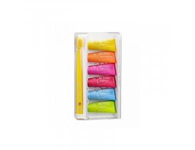 Curaprox Be You Six Taste Pack, 6 οδοντόκρεμες x 10ml & 1 οδοντόβουρτσα