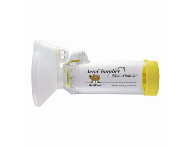 AEROCHAMBER PLUS Με Επιστόμιο Παιδική Μάσκα Εισπνοών για 1-5 ετών