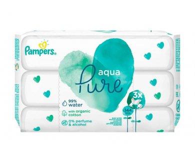 Pampers Pure Aqua Μωρομάντηλα, 3?48τμχ