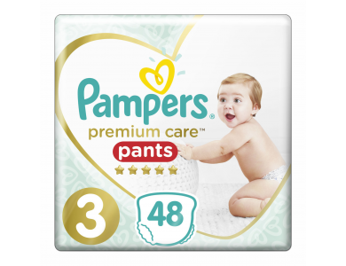 Πάνες-Βρακάκι Pampers Premium Care Pants Μέγεθος 3 (6-11kg) (48τεμ)