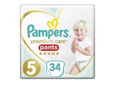Pampers Premium Care Pants No.5 (12-17kg) 34 τμχ