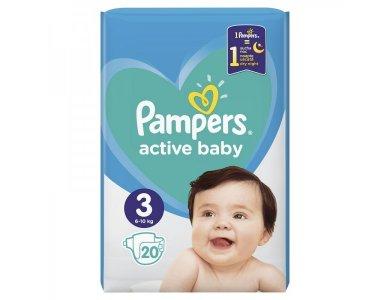 Pampers Πάνες Μωρού Active Baby No3 (6 - 10 kg) 20 τεμάχια