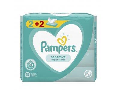 Pampers Sensitive Μωρομάντηλα 2+2 208τμχ