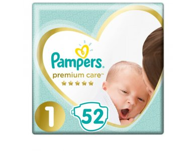 Pampers Premium Care No1 (2-5kg) 52τμχ