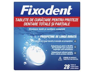 Fixodent Ταμπλέτες Καθαρισμού για Ολικές & Μερικές Τεχνητές Οδοντοστοιχίες 28tabs