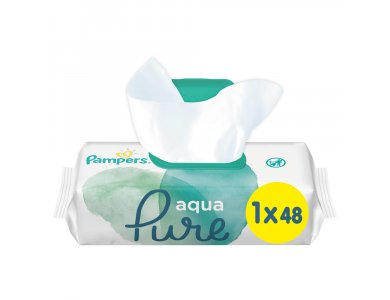 Pampers Aqua Pure Wipes 48τμχ 1+1 Δώρο