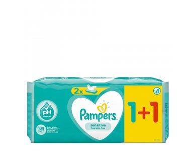 Pampers Promo Sensitive Μωρομάντηλα 52τμχ 1+1 ΔΩΡΟ