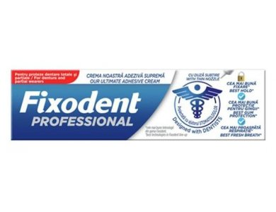 Fixodent Professional, Στερεωτική Κρέμα για Tεχνητές Oδοντοστοιχίες, 40gr